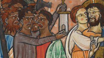 Judasz zdradzający Jezusa