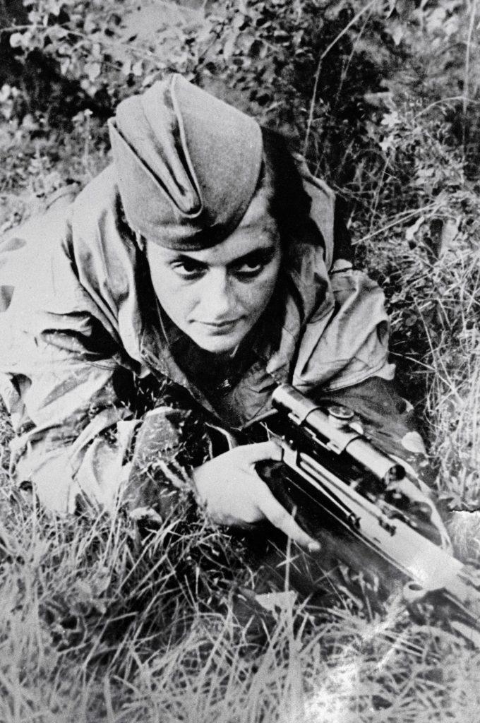 Według oficjalnej wersji Pawliczenko zabiła 309 niemieckich oficerów i żołnierzy (Władimir Iwano/domena publiczna).