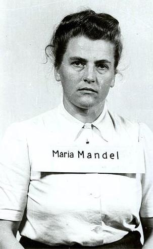 Maria Mandl po aresztowaniu w 1945 roku.
