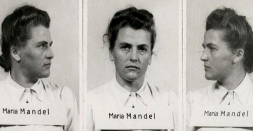 Maria Mandl po zatrzymaniu w 1946 roku