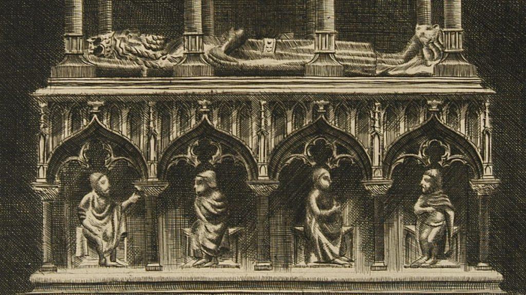 Nagrobek Kazimierza Wielkiego w katedrze na Wawelu.
