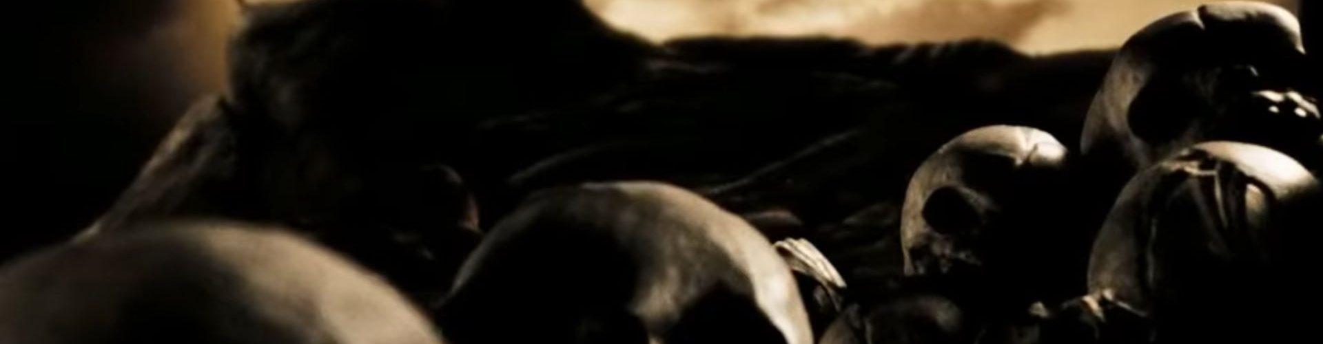 Oględziny dziecka w Sparcie. Kadr z filmu 300.