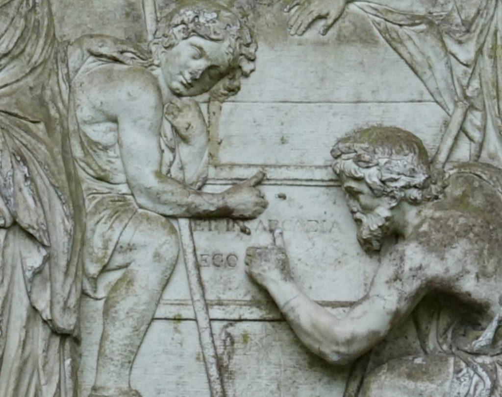 Pasterze pochyleni nad napisem Et in Arcadia ego