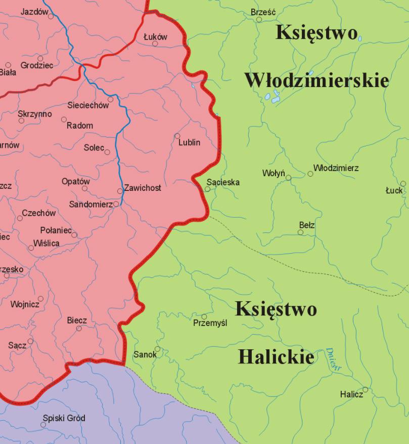 Pogranicze polsko-rusko-węgierskie w XII wieku