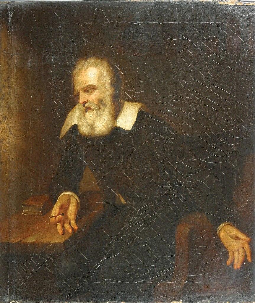Portret Galileusza przypisywany Bartoloméo Estebanowi Murillo (domnena publiczna).