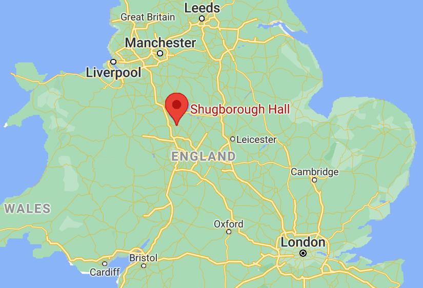 Posiadłość Shugborough Hall znajduje się w hrabstwie Staffordshire.