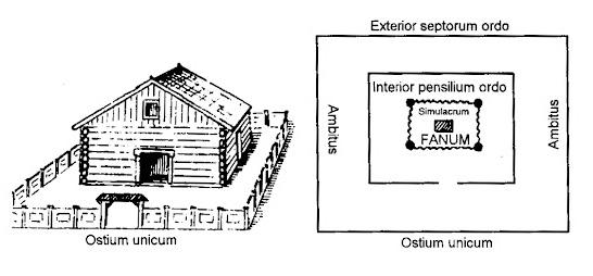 Rekonstrukcja wyglądu świątyni w Arkonie według Leszka Słupeckiego.