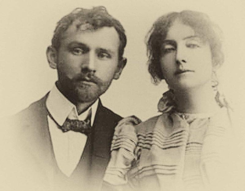 Stanisław Przybyszewski z żoną Dagny.
