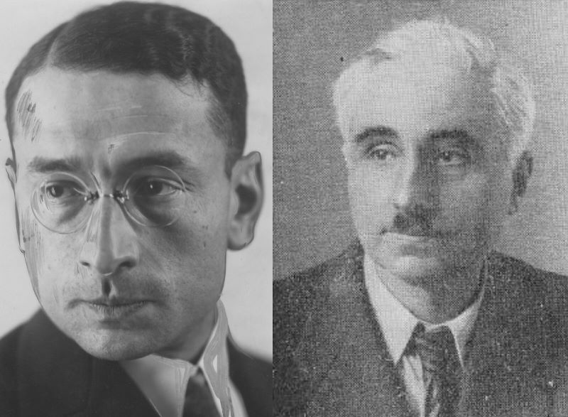 Stefan Glaser (z lewej) i Stanisław Higier.