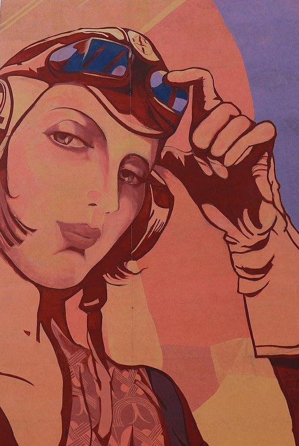 Tamara zdecydowanie nie była wierną żoną. Na zdjęciu fragment gdańskiego muralu poświęconego malarce autorstwa Rafała Roskowińskiego i Jacka Zdybela (Andrzej Otrębski/CC BY-SA 4.0).