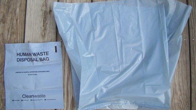 WAG bag czyli pojemnik na mocz używany przez amerykańskich żołnierzy.