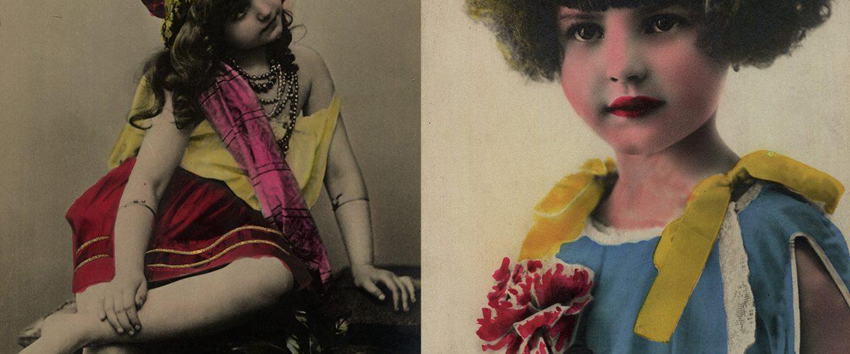 Anonimowe portrety dziewczęce z początku XX wieku.