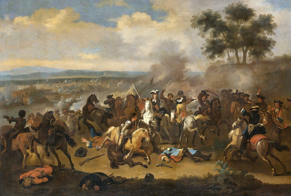 Bitwie nad Boyne na obrazie Jana van Huchtenburga (domena publiczna).