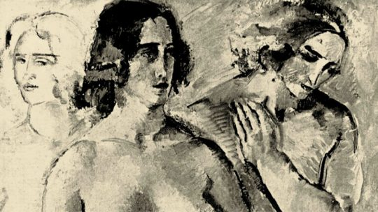 Fragment obrazu Heleny Het-Kwiatkowskiej Równowaga z 1933 roku.