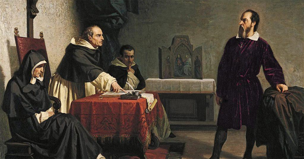 Galileusz przed inkwizycją. XIX-wieczny obraz Cristiana Bantiego.