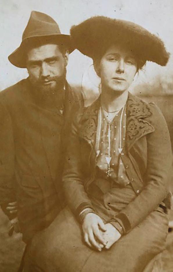 Irena Reno i Alcide Le Beau. Fotografia z ok. 1908 roku