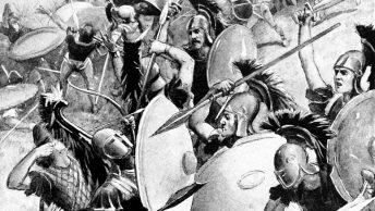 Klęska ateńskiej armii w wojnie peloponeskiej.