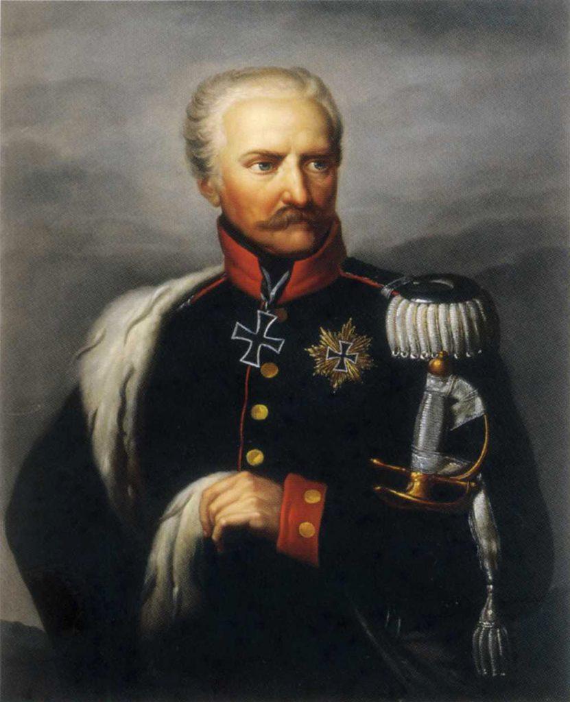 Marszałek von Blücher był niepocieszony angielską odmową rozstrzelania Napoleona (Ernst Gebauer/domena publiczna).