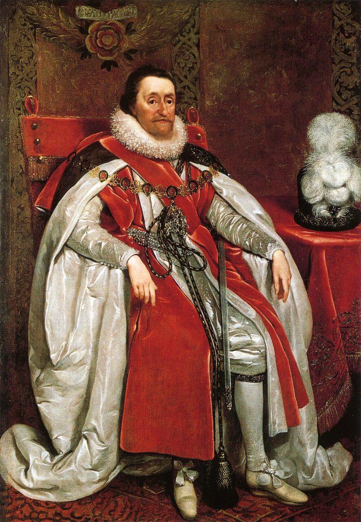 Mimo że Jakub I został królem Anglii to i tak trudno powiedzieć, że był szczęśliwym człowiekiem (Daniël Mijtens/domena publiczna).