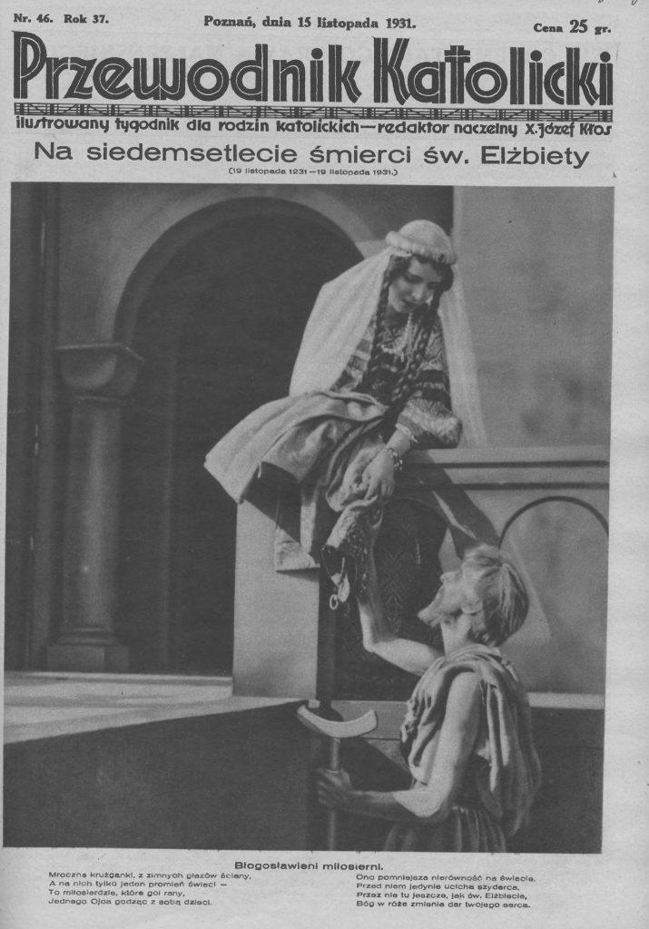 """Okładka numeru """"Przewodnika Katolickiego"""", w którym znalazło się Dziesięcioro przykazań dla żon."""