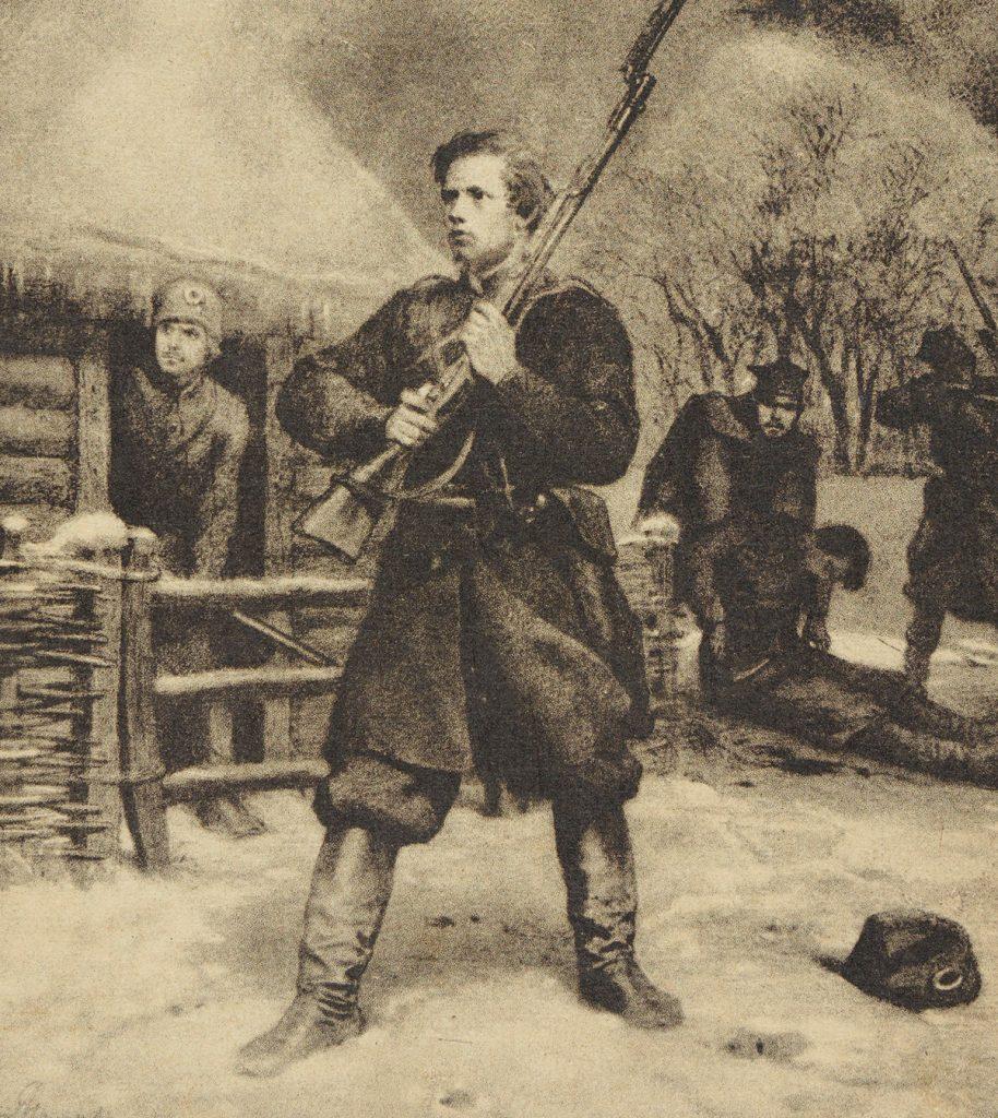 Powstańcy styczniowi na pocztówce z początku XX wieku.