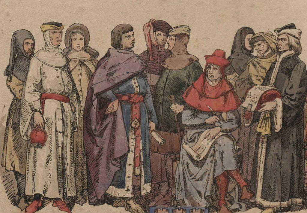 Późnośredniowieczni krakowianie według Jana Matejki (domena publiczna).