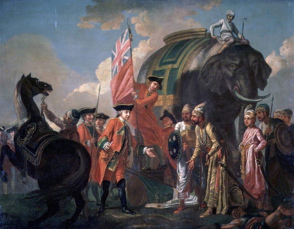 Robert Clive po bitwie pod Plassey (Francis Hayman/domena publiczna).