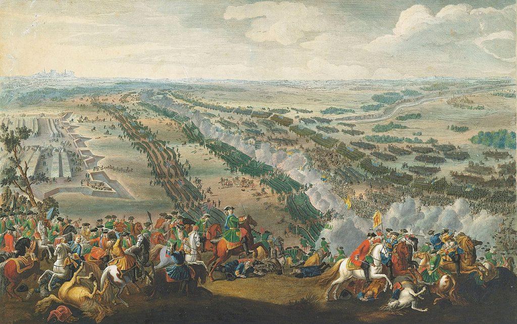 Podczas wielkiej wojnie północnej zginęło 200 tysięcy Szwedów i Finów. Na ilustracji obraz Pierre'a-Denisa Martina przedstawiając bitwę pod Połtawą (domena publiczna).