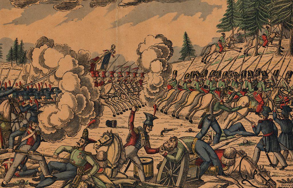 Walki polsko-rosyjskie w powstaniu listopadowym.