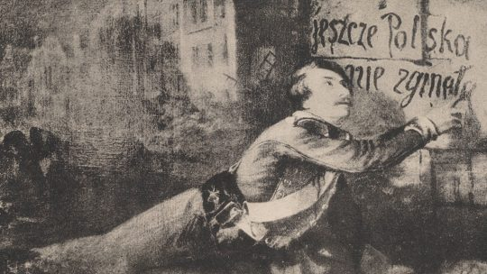 Z oblężenia Warszawy rok 1831. Pocztówka z początku XX wieku.