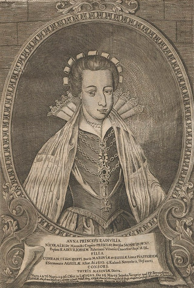 Księżna Anna długo nie chciała oddać władzy synom (domena publiczna).