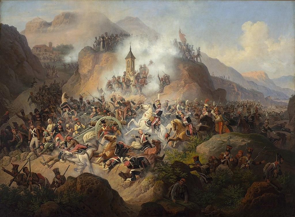 Bitwa pod Somosierrą. Obraz Januarego Suchodolskiego.