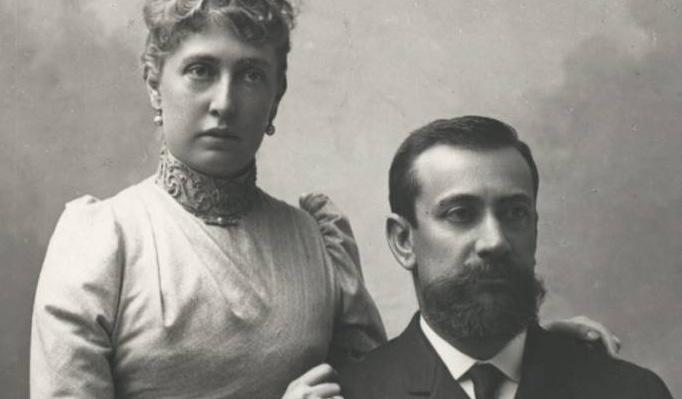 Książę Monako Albert I wraz z żoną - Alice Heine.