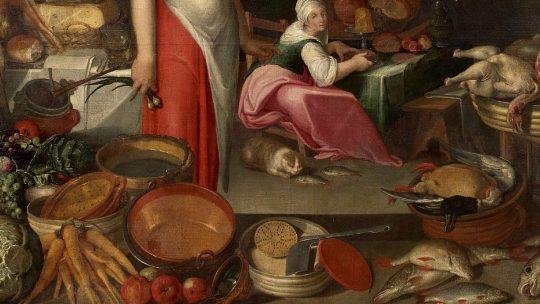 Kuchenny rozgardiasz na obrazie nieznanego XVI-wiecznego malarza.
