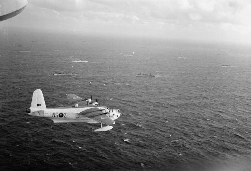 """Łódź latająca """"Sunderland"""" z 201 dywizjonu RAF-u. Zdjęcie poglądowe (domena publiczna)."""