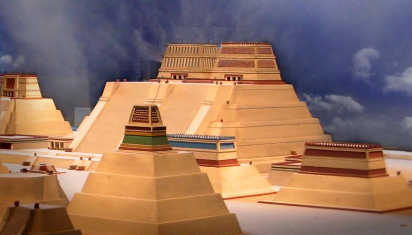 Makieta najważniejszej budowli sakralnej Azteków Templo Mayor, która górowała nad Tenochtitlan (s shepherd/CC BY 2.0).