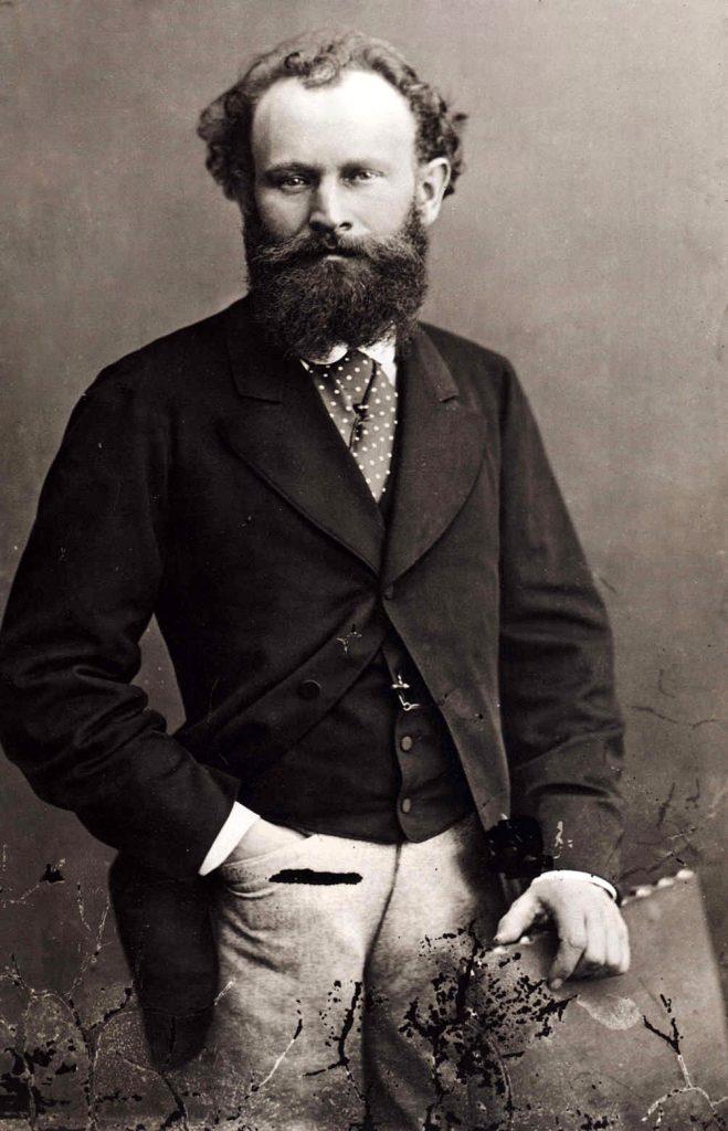 Édouard Manet na zdjęciu wykonanym pod koniec lat 60. XIX wieku (Nader/domena publiczna).