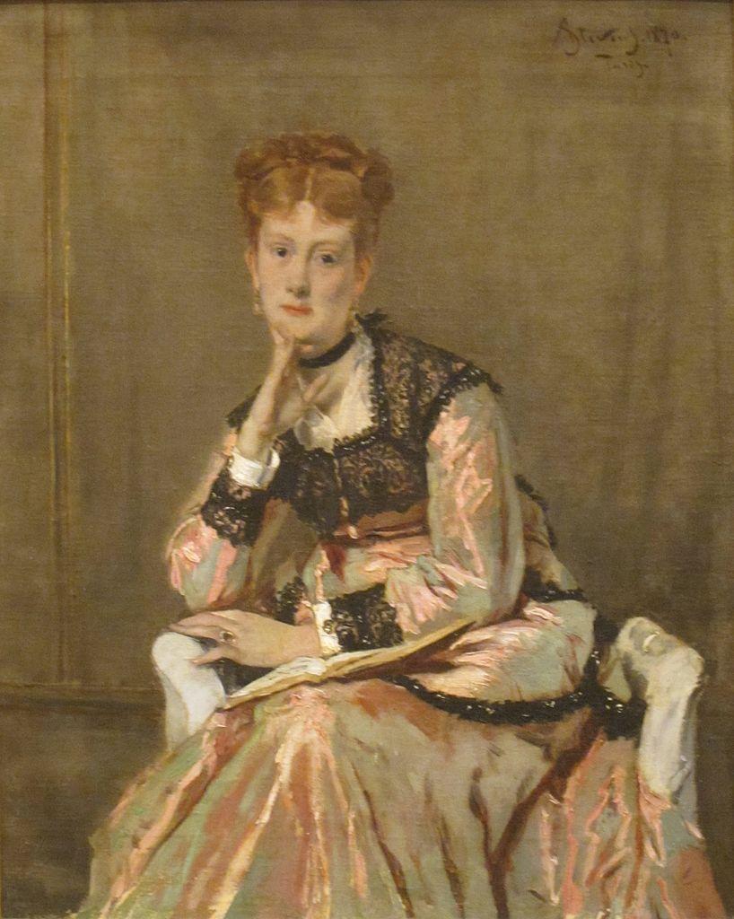 Paryski Sfinks, obraz Alfreda Stevensa, do którego pozowała Victorine (domena publiczna).