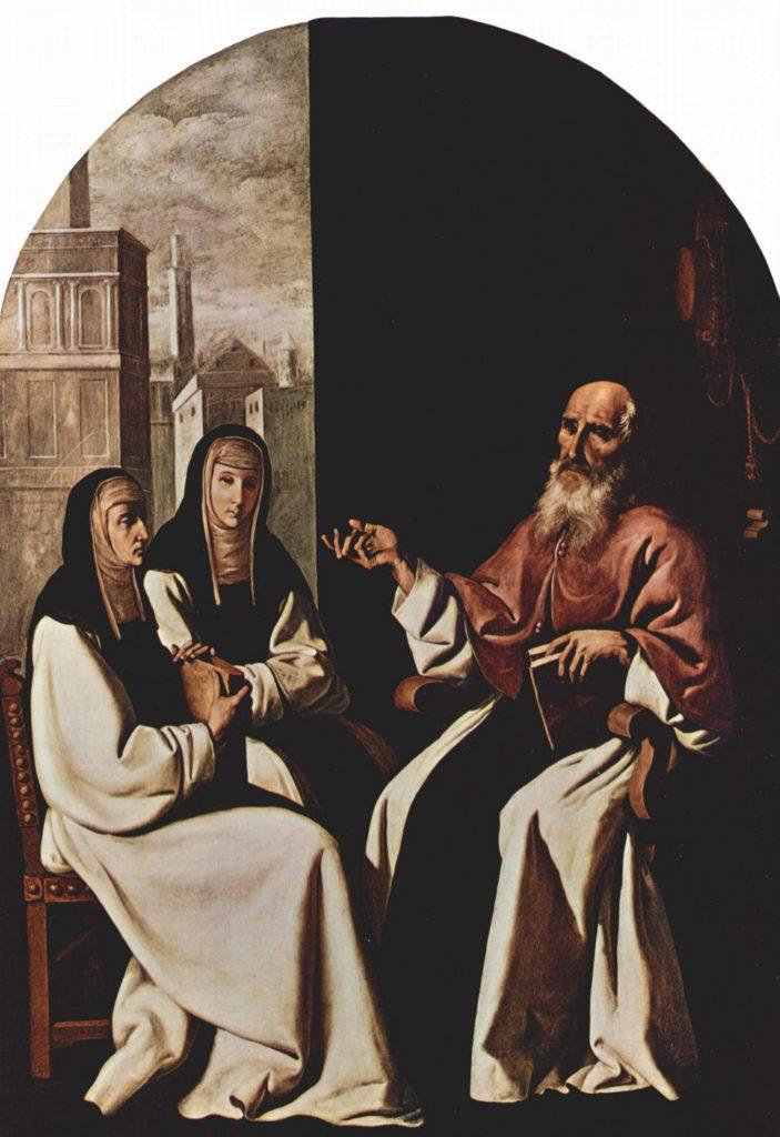 Paula Rzymianaka i Hieronim na obrazie Francisco de Zurbarána (domena publiczna).