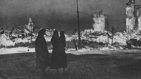 Plac Zamkowy w Warszawie w styczniu 1944 roku