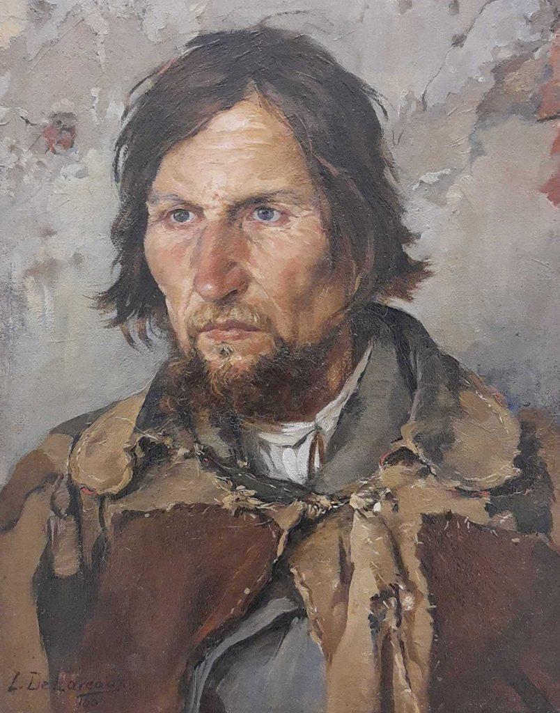 Portret chłopa. Obraz Ludwika de Laveaux w zbiorach Muzeum Narodowego w Poznaniu