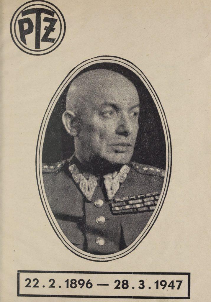 Śmierć Świerczewskiego była bardzo na rękę władzom Polski Ludowej. Na ilustracji okładka wydanej po jego śmierci propagandowej broszury (domena publiczna).