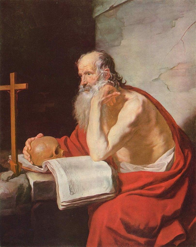 Św. Hieronim zdecydowanie nie był zwolennikiem kąpieli (Jacques Blanchard/domena publiczna).