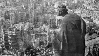 Drezno w 1945 roku na zdjęciu Richarda Petera