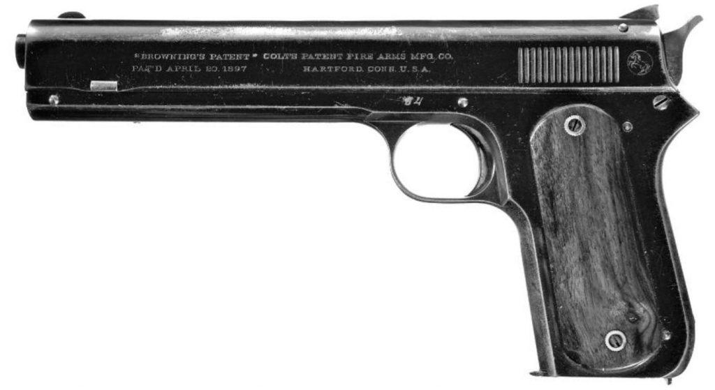 Egzemplarz pierwszej serii produkcyjnej - pistolem M1900.