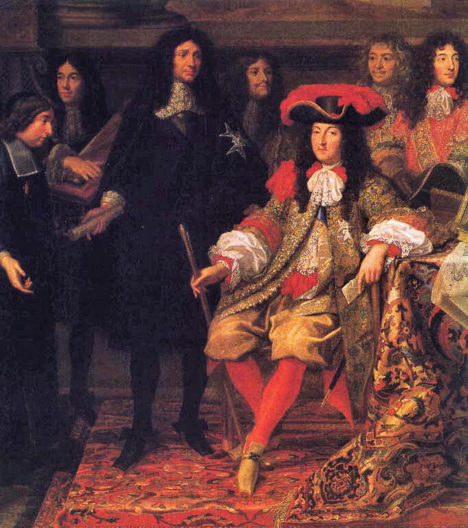 Ludwik XIV i jego dwór portwornie śmierdzieli (Henri Testelin/domena publiczna).