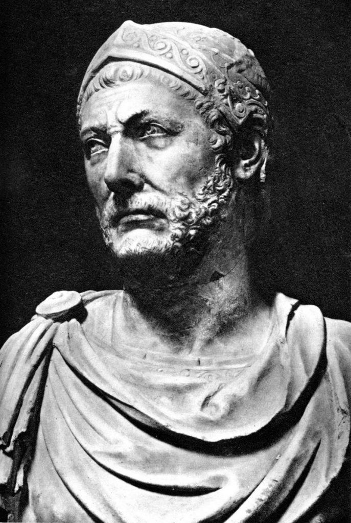 Marmurowe popiersie identyfikowane jako podobizna Hannibala