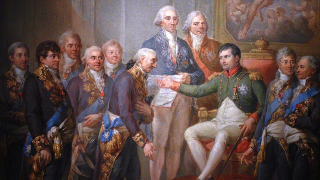 Nadanie Konstytucji Księstwa Warszawskiego przez Napoleona,
