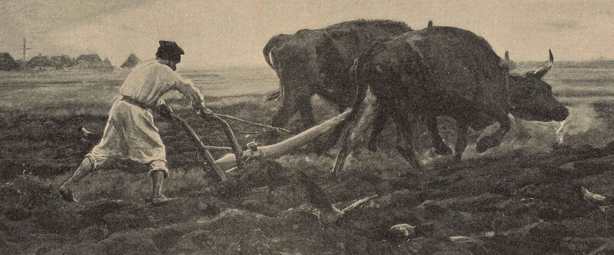 Orka wołami. Obraz Józefa Chełmońskiego.