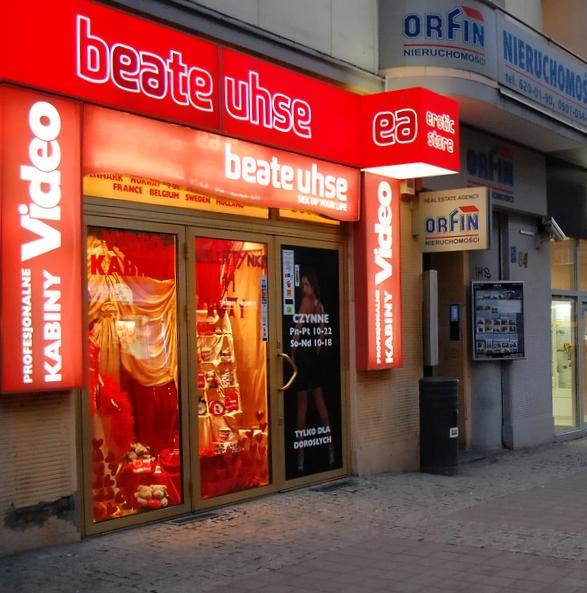 Placówka sieci Beate Uhse w Gdyni. Fotografia z 2009 roku.